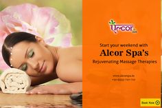 Have a relaxing weekend with #AlcorSpa's #Massage and #Spa #Therapies. Book your appointment now at: http://alcorspa.in/book-appointment/ #AlcorSpa