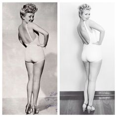 Edition 3: #bgmeetsvv   I decided to take on this iconic Betty Grable photograph even though my booty ain't like her bootygetting that pose down was harder than I imagined too haha!! It was so fun shooting it though and I can't wait to share the next editions coming up!   Instagram - @allyvintage Web - www.thevintagevalley.com