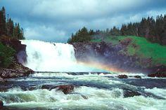 Tännforsen waterfall, Sweden