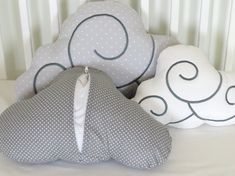 Moon Pillow Cloud Pillows Star Pillow Set 5 by Customquiltsbyeva