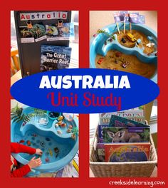 Australia Unit Study from Creekside Learning - Great barrier wreath in sand table and animal habitats Geography Activities, Geography Lessons, Teaching Geography, Preschool Activities, Teaching Kids, Australia For Kids, Australia Crafts, Geography Of Australia, Around The World Theme