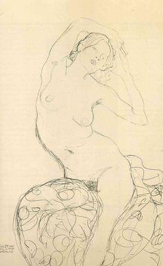 "Gustav Klimt: Studio per il dipinto ""La vergine"" (1913) matita 56,9x37,3"