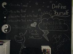 chalkboard wall | Tumblr