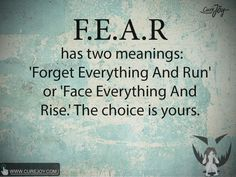 what is fear? Find more #inspirational #quotes at curejoy to get you up and get you moving. Refer to these daily so that you get your mind in the right place to be the most effective version of yourself possible.