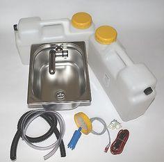 12V  Miniküche Verkaufsstand Bausatz Spüle 325x265x150mm Barwig Chrom  Smev