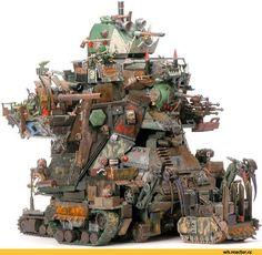 This Gargant means business :D Warhammer 40000, Orks 40k, Warhammer Art, Warhammer Models, Warhammer 40k Miniatures, Warhammer Terrain, Game Workshop, The Grim, Tabletop Games