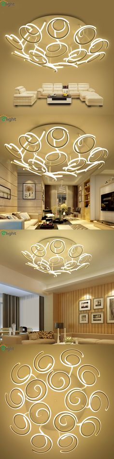 Nordic Floral Aluminum Led Ceiling Chandeliers Lustre Acrylic Living Room Dimmable Led Chandelier Lighting Led Chandelier Lights