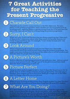 7 Great Activities to Teach the Present Progressive