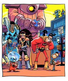 May 2014 Free Comic Book Day doodle by Skottie Young
