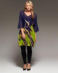 Project D London Marble Kaftan Tunic Dress