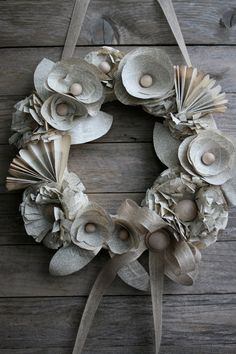 Book Pages Wreath by KoriCreates on Etsy, $24.00