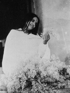 """Sri Anandamayi Ma - a wonderful Woman Saint of India - She once said - """"Divine happiness, even the tiniest particle of a grain of it, never leaves one again; and when one attains to the essence of things..this is supreme happiness. When it is found, nothing else remains to be found; the sense of want will not awaken anymore, and the heart's torment will be stilled forever."""""""