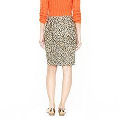 leopard print pencil skirt at J. Crew
