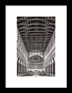Perspective view Framed Print by Roberto Pagani Framed Prints, Canvas Prints, Wall Art For Sale, Ravenna, Black Wood, My Works, Clear Acrylic, Fine Art America, Cat Lovers