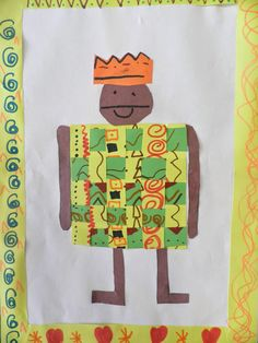 Bricks & Wood- School Art Activities: Class Art- Kente cloth paper weaving