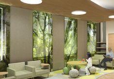 Trees, green, modern