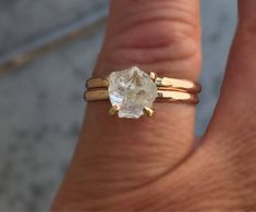 A personal favorite from my Etsy shop https://www.etsy.com/listing/557403479/raw-rose-gold-herkimer-diamond