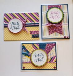 Create with Liz: Confetti Wishes Cards #CTMH