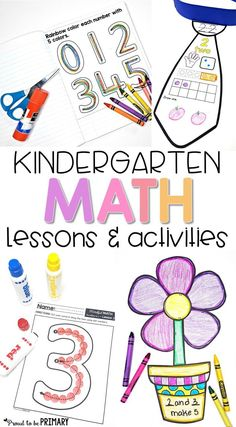 """Mindful math for Kindergarten is a 10 unit math curriculum and comprehensive math program for any classroom. The different math topics covered are numbers to 5, 10, and 20, addition and subtraction to 10, counting to 100, geometry 2D & 3D shapes, sorting, patterning, measurement, and graphing. Kids will be engaged and learning with these kindergarten math activities, centers, math journals, printable worksheets, math games, lesson plans, flash cards, and """"I Can"""" posters. #proudtobeprimary"""