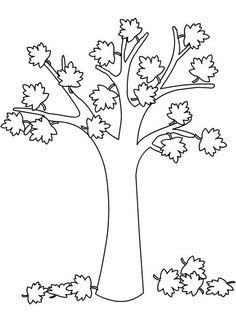 Free Kids Coloring Pages, Coloring Book Pages, Free Coloring, Coloring Sheets, Autumn Crafts, Autumn Art, Autumn Trees, Autumn Leaves, Diy And Crafts