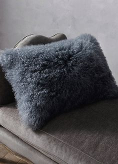 Our fantastically fluffy Mongolian Fur Decorative Pillows enliven bed tops, sofas and chairs with touchable texture and haute hues. The plush Mongolian fur is soft, cozy and elevated.