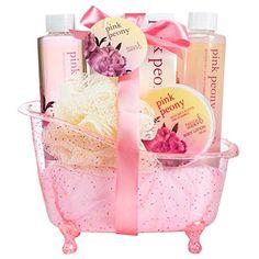 Pink Peony Spa Gift Set in a Dazzling Glitter Tub Freida Joe https://smile.amazon.com/dp/B00LNEOGWA/ref=cm_sw_r_pi_dp_8lqNxbGZQ66PM
