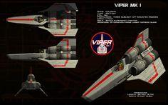 Colonial Viper Mk 1 by unusualsuspex on DeviantArt Sci Fi Genre, Sci Fi Tv, Space Fighter, Sci Fi Models, Battlestar Galactica, Kampfstern Galactica, Sci Fi Ships, Space Crafts, Mk1