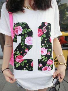 loose bat sleeve T - shirt -