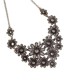 FREE JEWELS Rhinestoned Blossom Necklace For Women