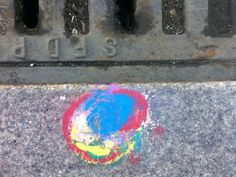 Colored Dots on Drains in San Francisco