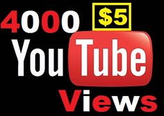 Add 5000 Youtube views for $5
