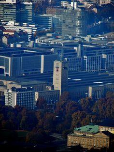 fernsehturm view to the BAHNHOF (Trainstation Stuttgart