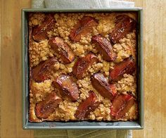 Plum Coffee Cake with Brown Sugar & Cardamom Streusel by Fine Cooking