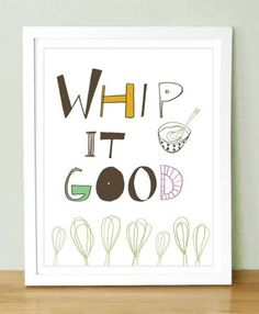 funny kitchen art :) maybe different lettering but I love this!