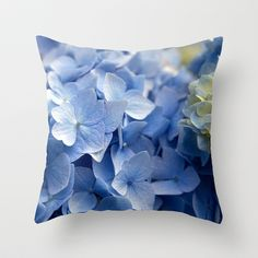 Got the blues Throw Pillow by Fiona & Paul Photography and Digital Art - $20.00
