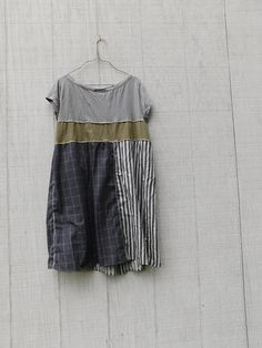 Loose Fit Dress Summer Dress Tunic Upcycled Patchwork