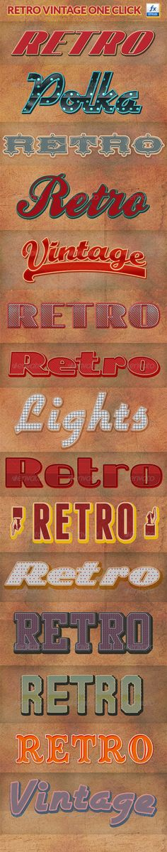 Retro Vintage Photoshop Layer Styles - GraphicRiver Item for Sale