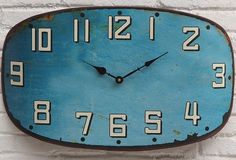 Metal Wall Clock | Rustic Metal Wall Clock