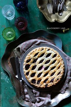 Blackberry Lime Pie - Click For Recipe