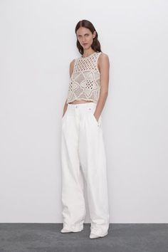 12 of the Best Spring 2020 Trends — Spring/Summer Runway Trends 2020 Fashion Trends, Spring Fashion Trends, Online Zara, Sleeveless Crop Top, Pulls, Knit Dress, Ideias Fashion, Knitwear, Knitting