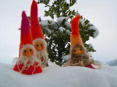 Lutins de F.B. rouges dans la neige