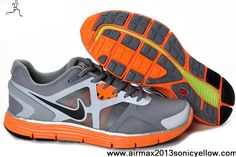 Wholesale Cheap Mens Nike Lunarglide 3 472540-008 Cool Grey Black-Total Orange-Reflective Silver Shield Newest Now