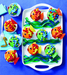 Rainbow Trout Cupcakes So cute! Definitely making these for Chippy for father's day :)