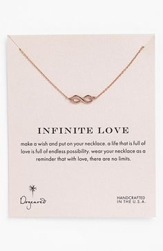 Infinite love pendant necklace http://rstyle.me/n/ejzhnnyg6