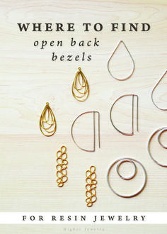 Where to Find Open Back Bezels for Resin Jewelry – open frame/ open back bezels … - Minimalist Jewelry Resin Jewlery, Making Resin Jewellery, Jewelry Making Tutorials, Making Resin Rings, Wire Jewellery, Diy Resin Art, Diy Resin Crafts, Diy Resin Beads, Decor Crafts