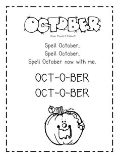 October song and poem (we did the ones for September too, and Em loved them!)