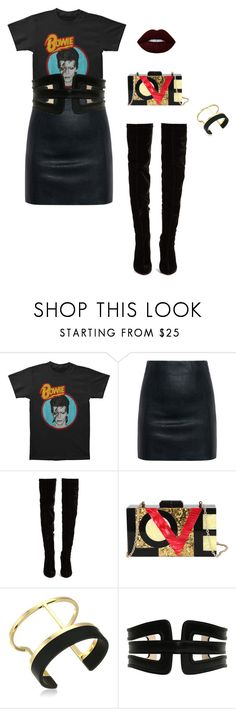 Nightclub berlin by julia-wittich on Polyvore featuring Mode, McQ by Alexander McQueen, Christian Louboutin, Diophy, Vince Camuto, Balmain and Lime Crime