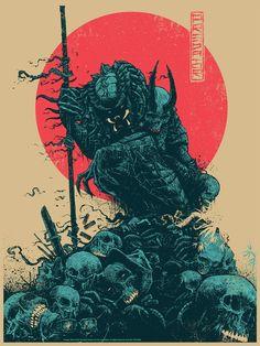 Predator by Godmachine - Home of the Alternative Movie Poster -AMP- Alien Vs Predator, Predator Alien, Predator Cosplay, Predator Movie, Kunst Poster, Samurai Art, Alien Art, Dope Art, Sci Fi Art