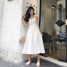Fashion Tips Dresses .Fashion Tips Dresses Asian Fashion, Look Fashion, Girl Fashion, Fashion Tips, Korean Dress, Korean Outfits, Pretty Outfits, Cute Outfits, Summer Outfits