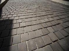 End Grain Wood Floor Cobblestones